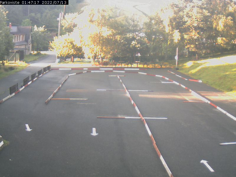 Fotka z webové kamery v lyžařském areálu Stupava